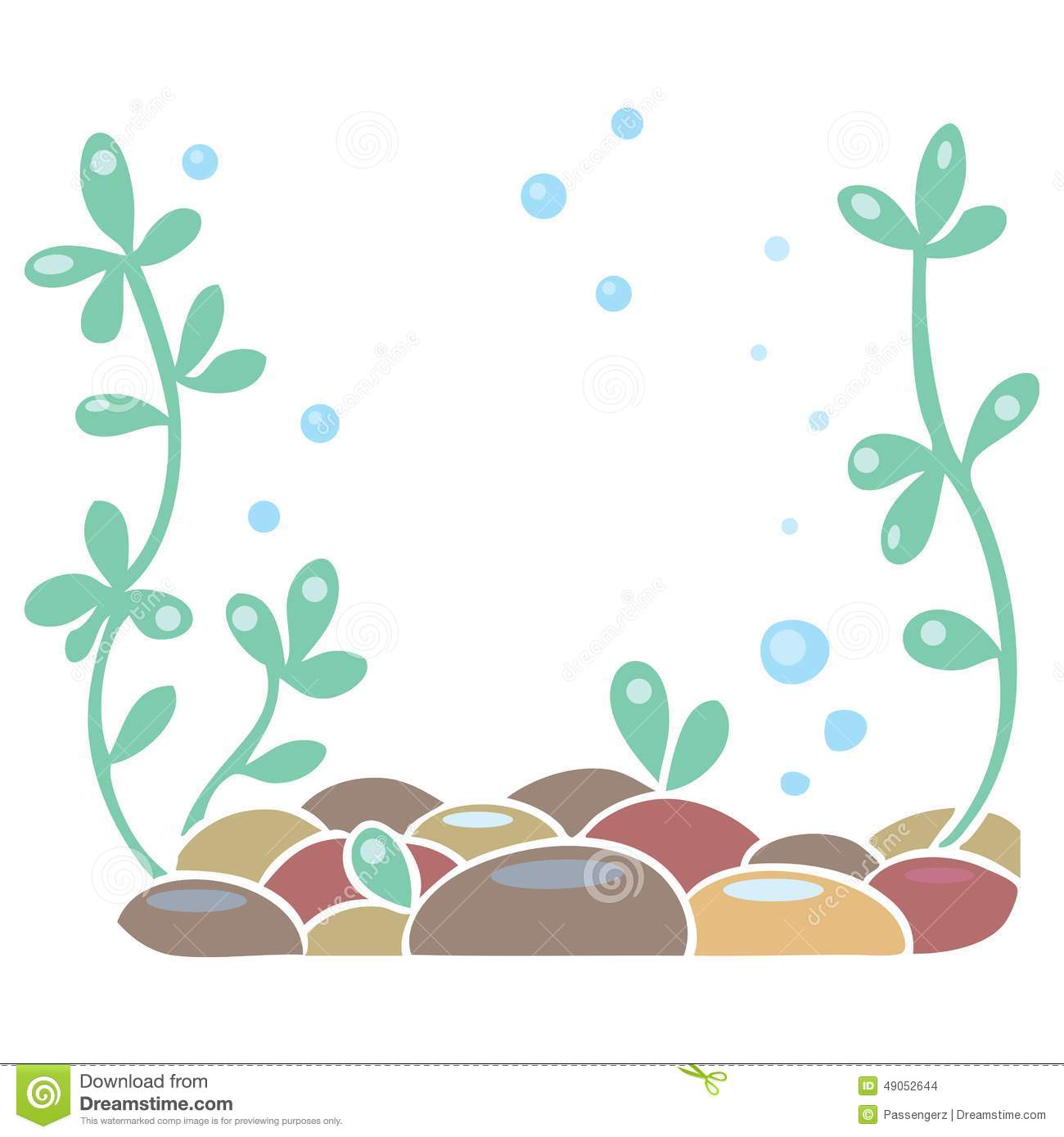 Aquarium Or Ocean Floor Stock Vector.