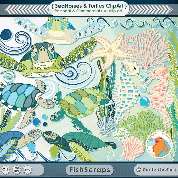 Ocean aquarium clipart #3