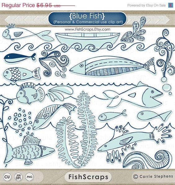 Ocean aquarium clipart #10
