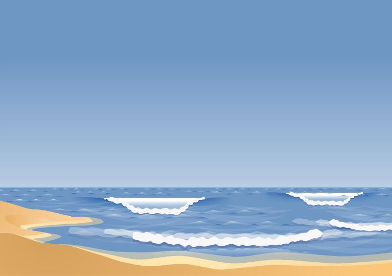 Ocean Beach Clipart.