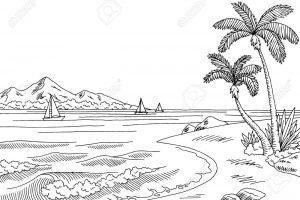 Clipart black and white ocean » Clipart Portal.
