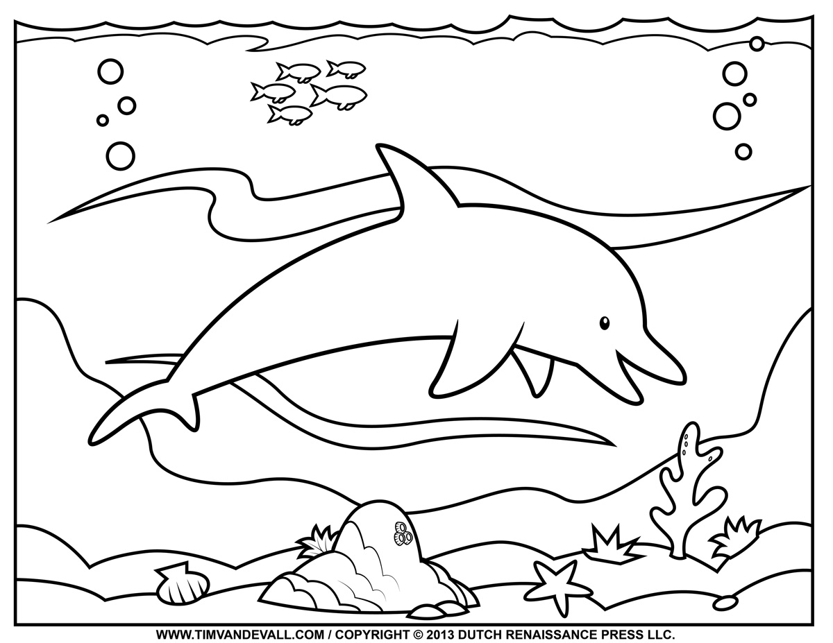 Ocean Clipart To Color Clipground