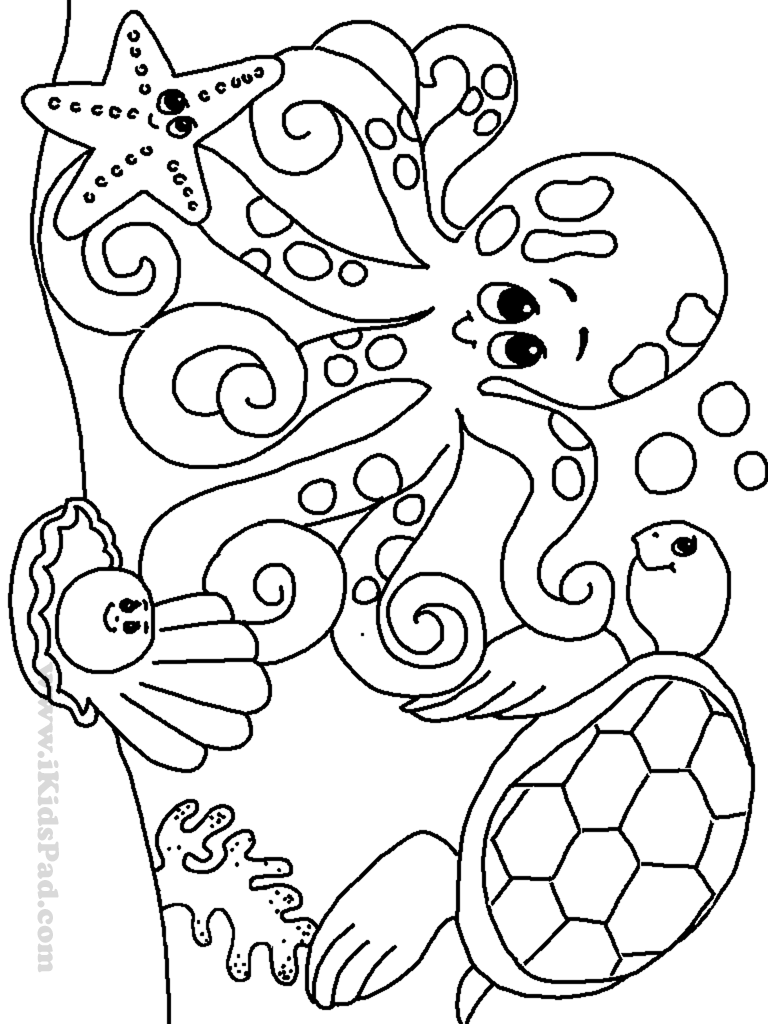 Free printable ocean coloring pages for kids, Coloring pages.
