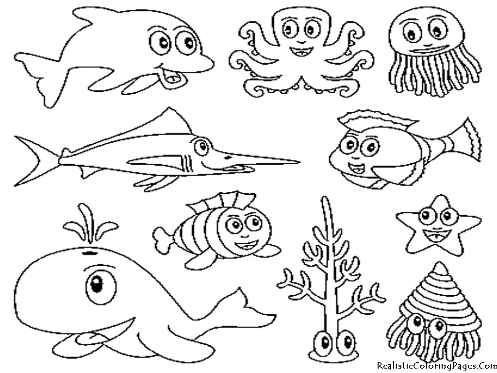 underwater animal coloring pages 01.