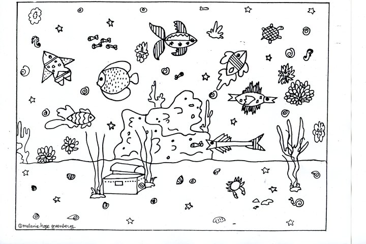 Black And White Ocean Clipart.