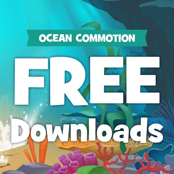 Ocean Commotion free downloads clip art promo backgrounds.