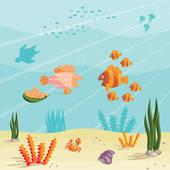 Ocean Floor Clip Art.