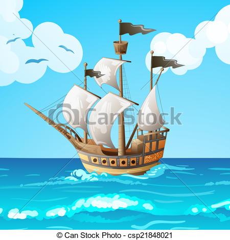 Vector Illustration of Ocean.