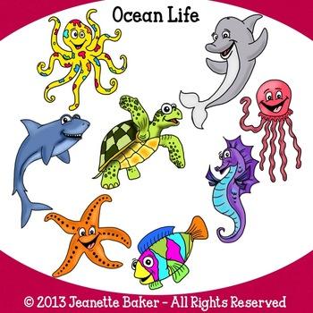 Ocean life clip art.