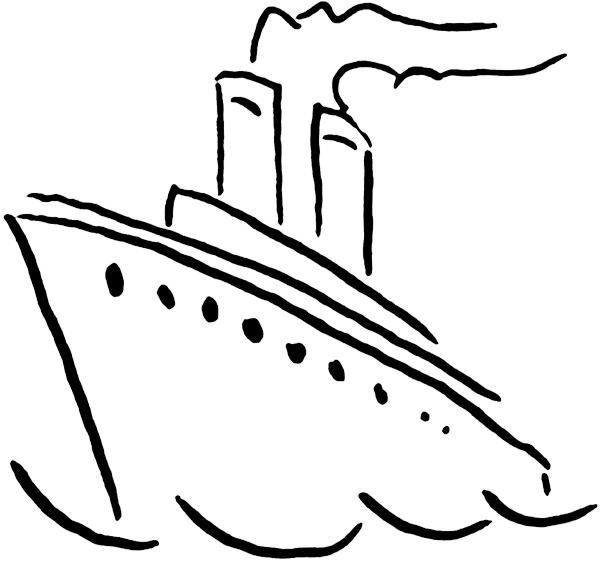 Ocean liner clip art.