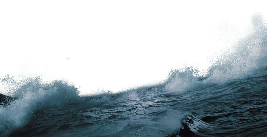 Ocean Waves transparent PNG.