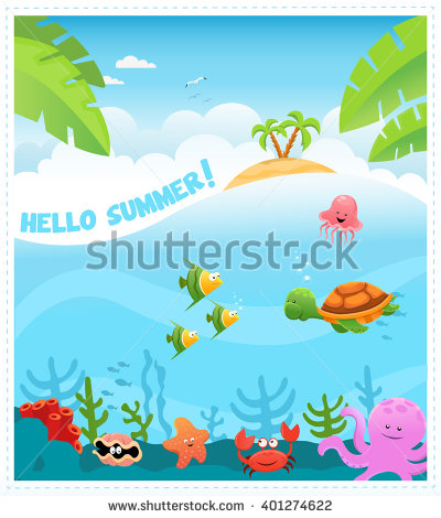 Underwater Scene Stock Images, Royalty.