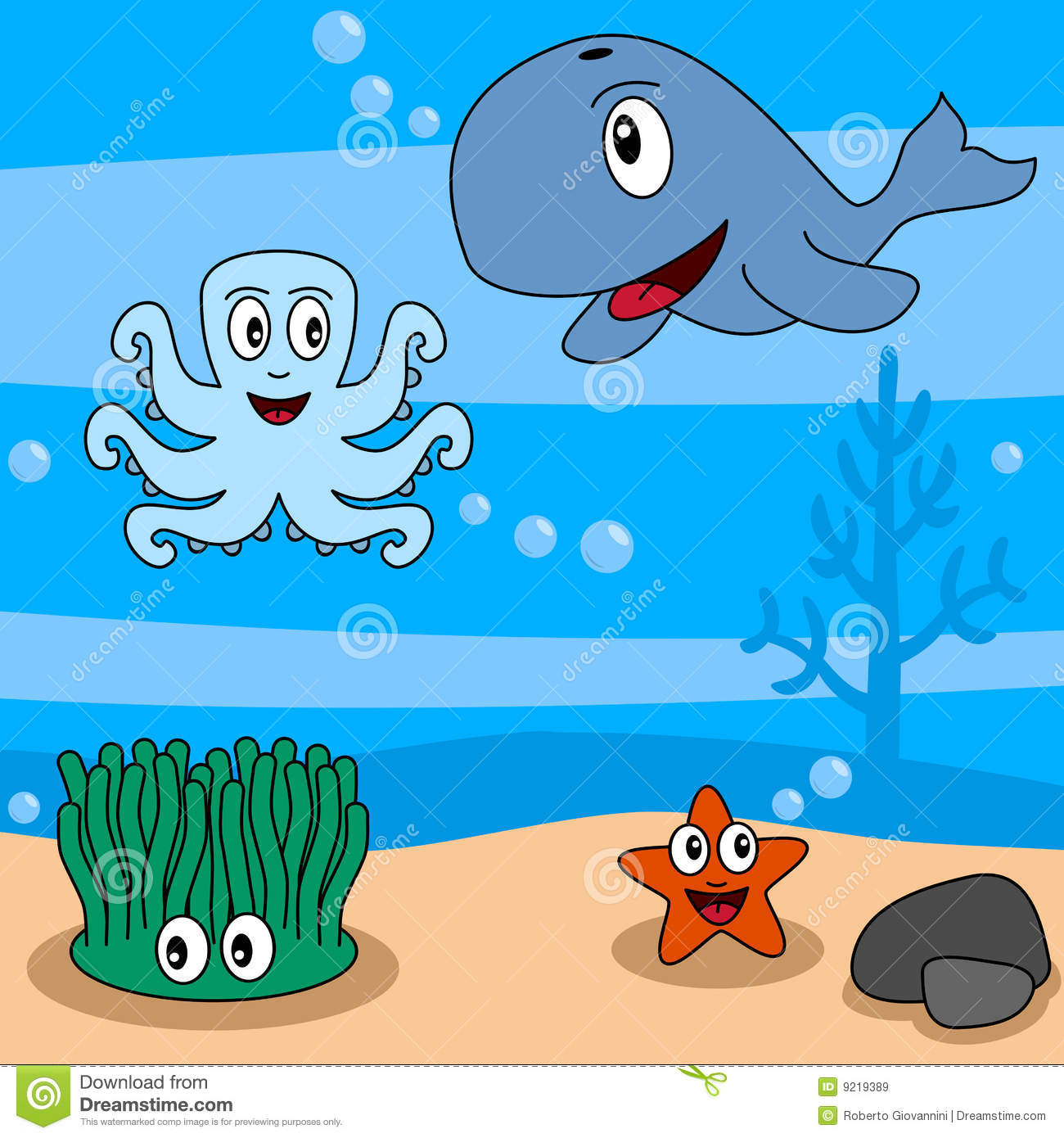 Gallery For > Under Ocean Scenery Clipart.