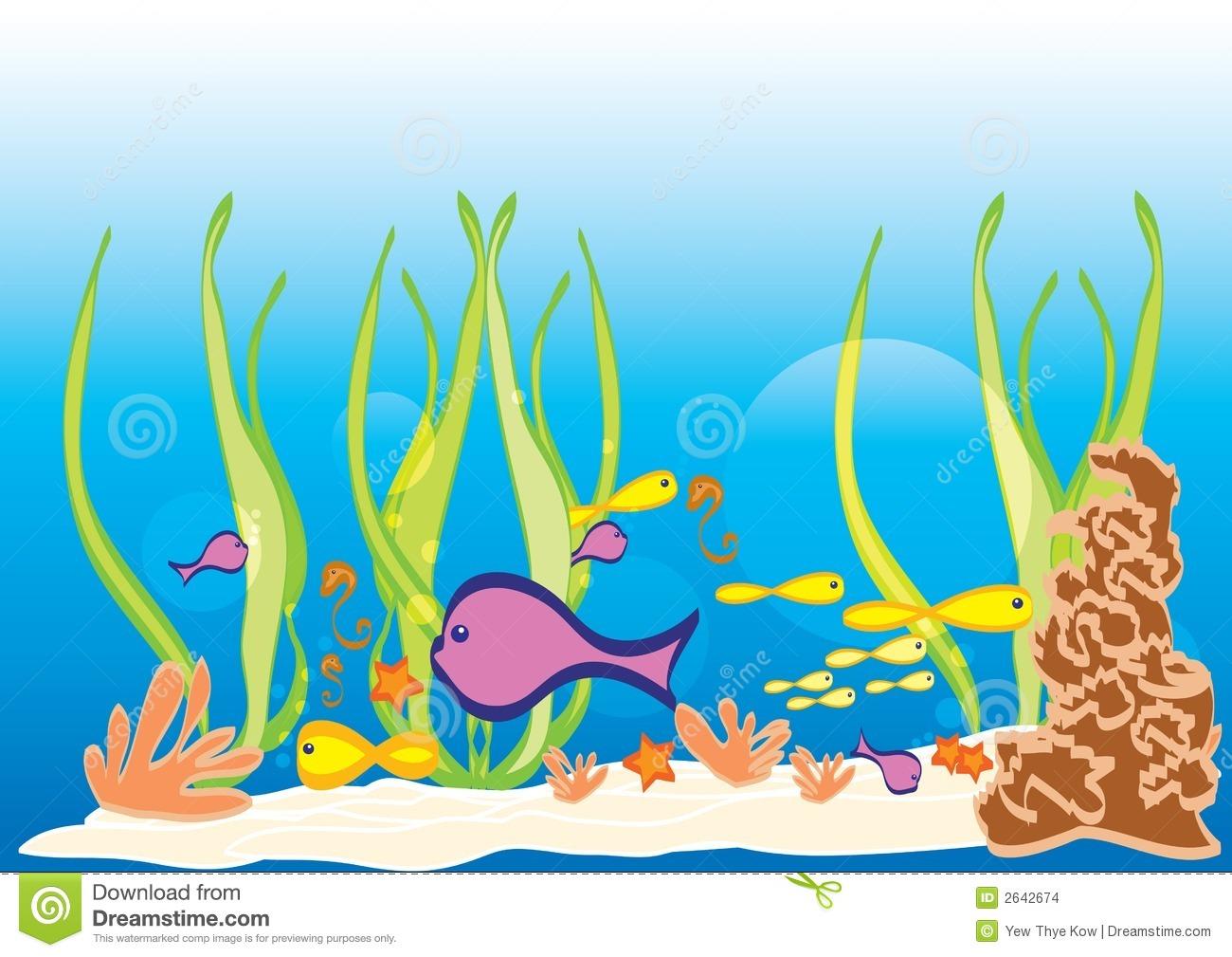 Ocean sea life clipart.