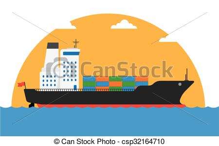 Vector Illustration of Vector concept of river ocean and sea.