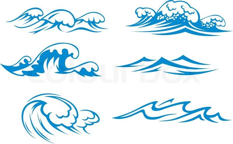 Ocean and sea waves.