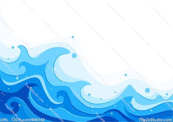 pinterest cartoon ocean waves.