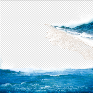 Sea Waves PNG Images.