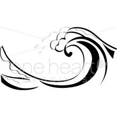 ocean wave clipart black and white #4