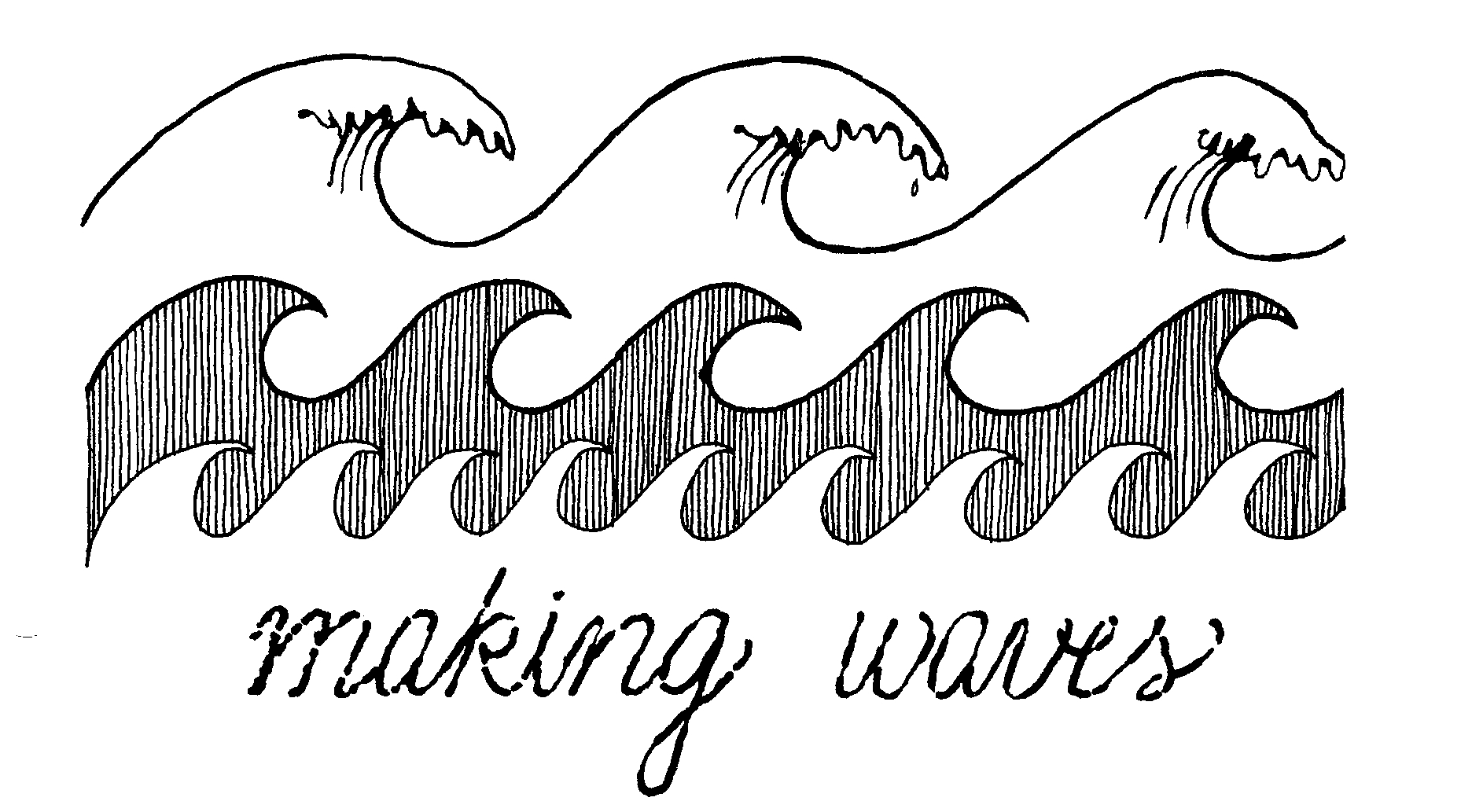 ocean wave clipart black and white #7