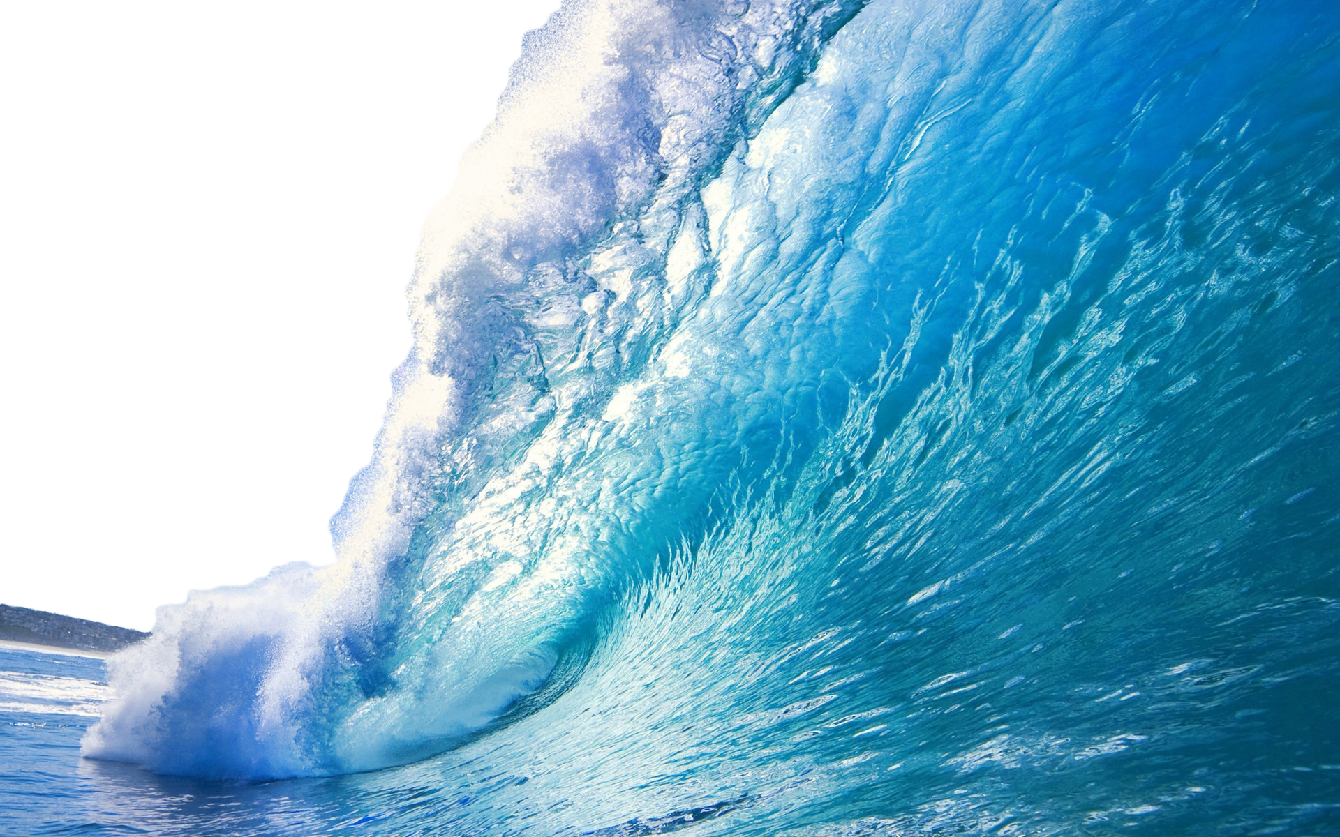 Sea With Wave PNG Image.