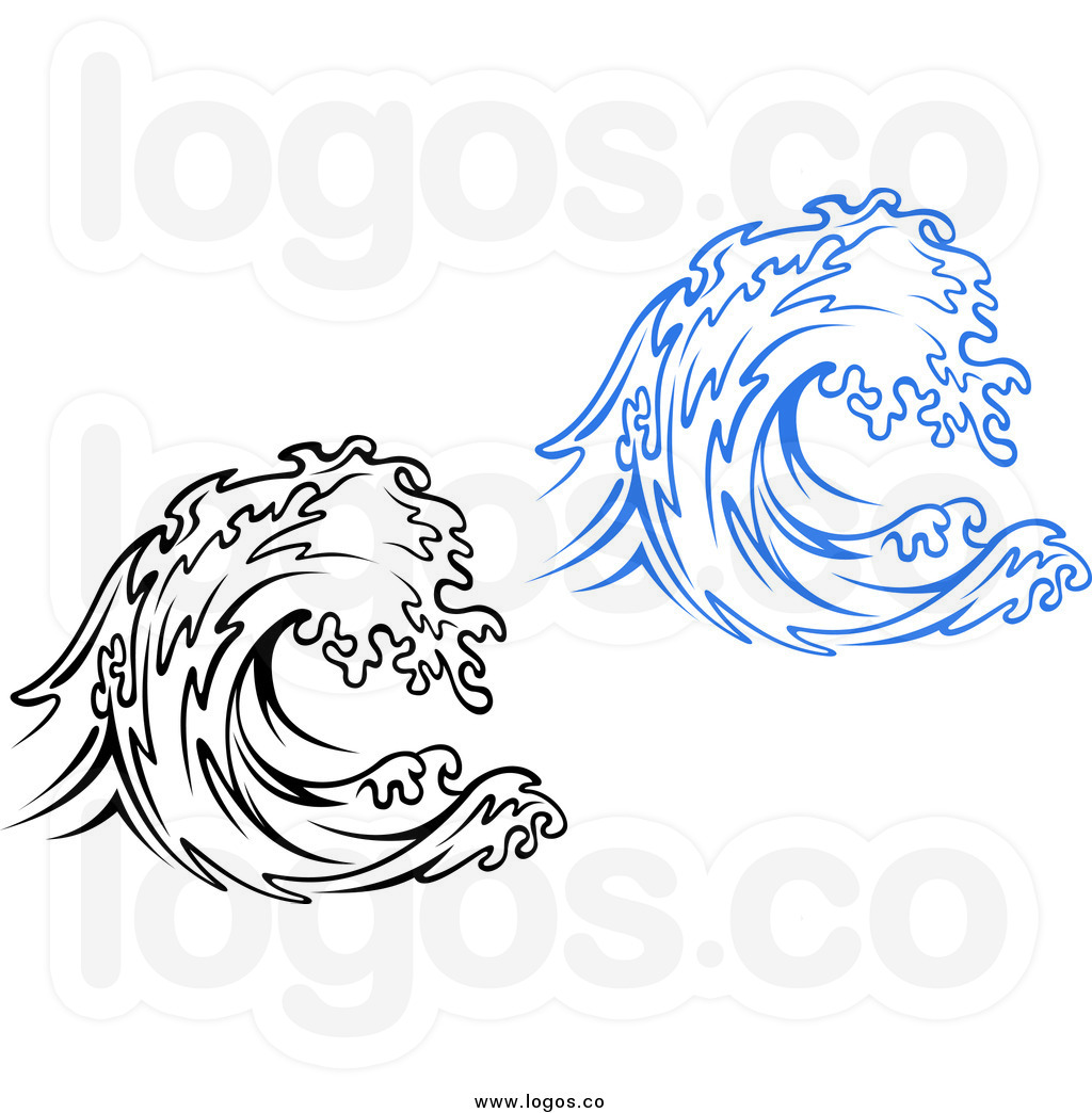 Water Waves Clipart Black And White.