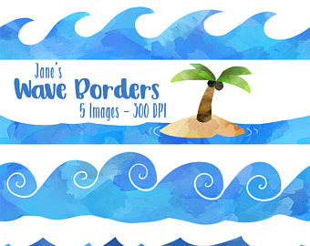 347 Ocean Waves free clipart.
