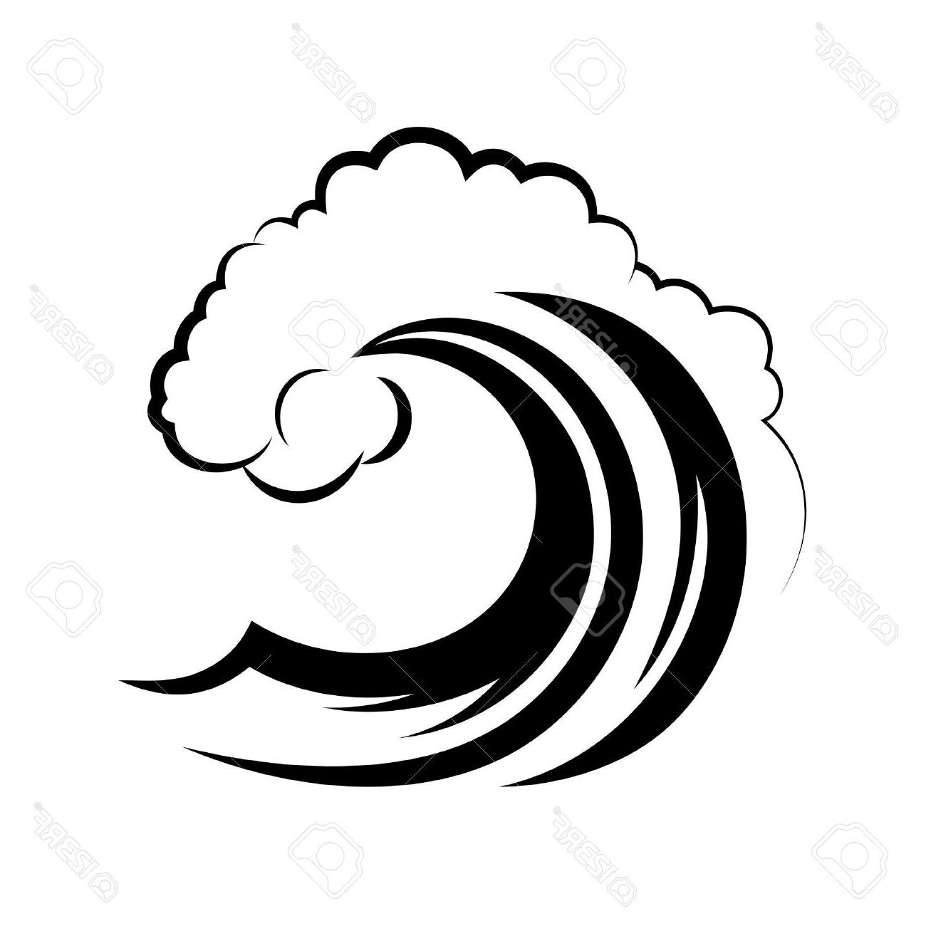 Wave Clipart Black And White.