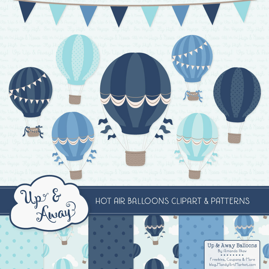 Hot Air Balloons Clipart Oceana.