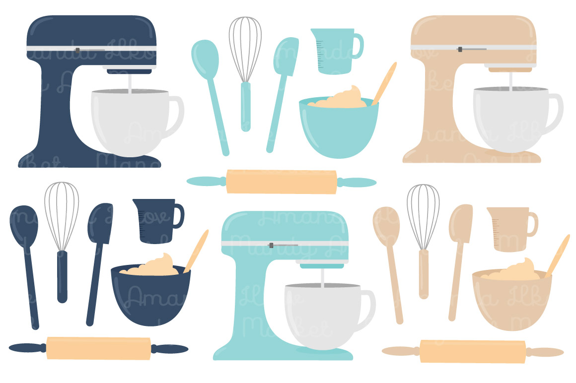 Vector Baking Clipart in Oceana by Amanda Ilkov.