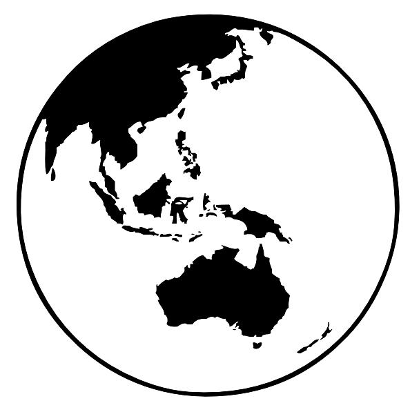 Earth Globe Oceania clip art Free Vector / 4Vector.