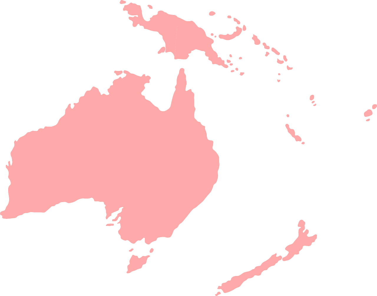 Continent Map Oceania Australia PNG.