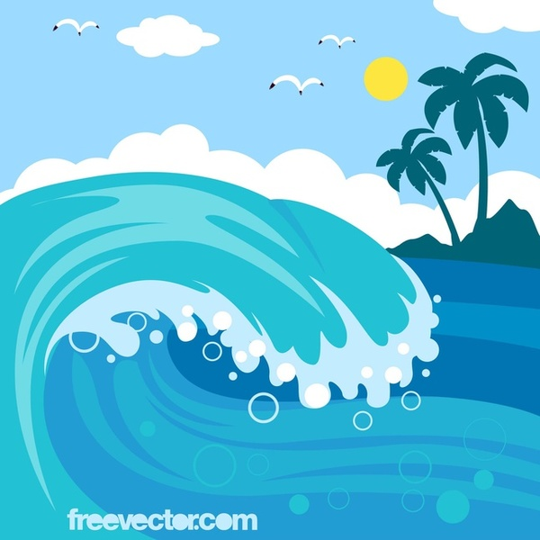 Free clip art ocean.