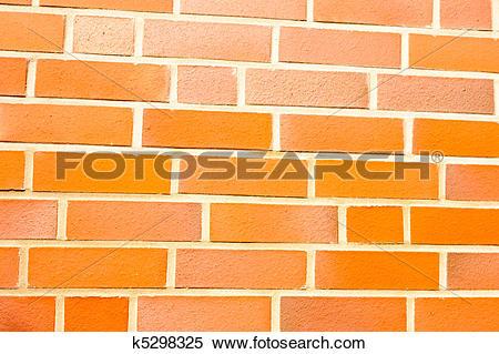 Stock Image of Fake ocher brick wall siding k5298325.