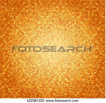 Clipart of Pale ocher vintage background k22381333.