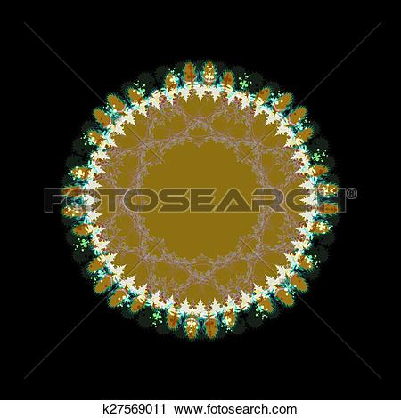 Clipart of ocher circle with trim k27569011.