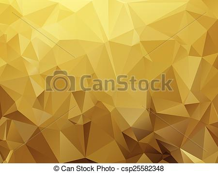 EPS Vector of ocher abstract background composition of triangles.