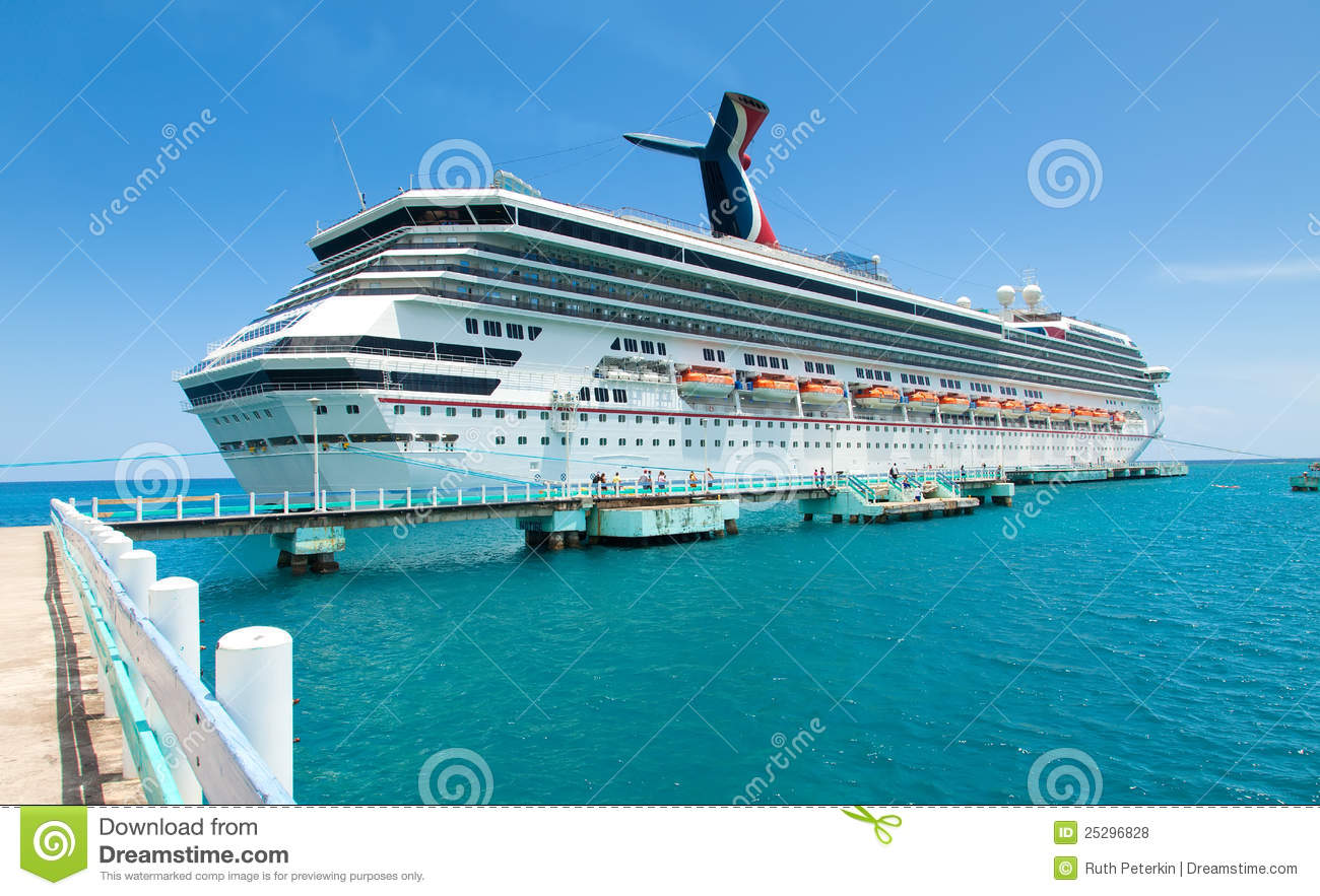 Cruise Ship In Ocho Rios, Jamaica Royalty Free Stock Photos.