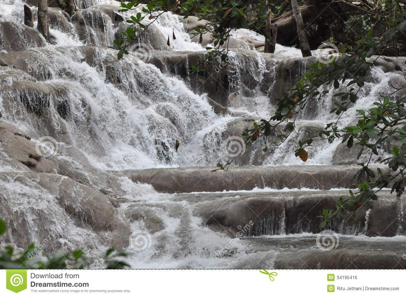 Dunn's River Falls, Ocho Rios, Jamaica Stock Photography.