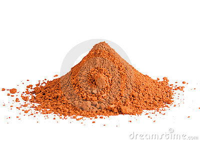 Red Ochre Pigment Pile Stock Photography.