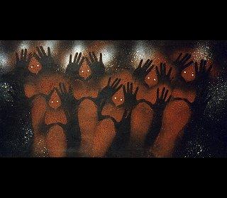 Rick Roser Aboriginal Artist Brisbane Qld Australia produces.