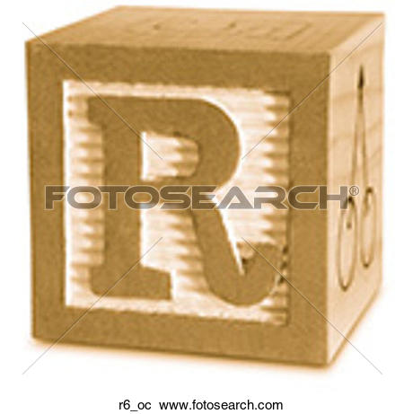 Stock Photography of Block Ochre R6 r6_oc.