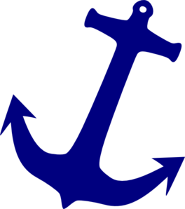 Pink Blue Anchor With Rope Clipart.