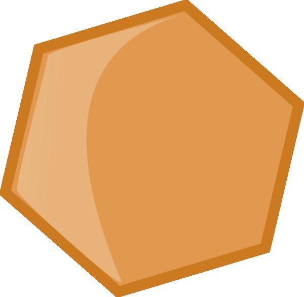 Hexagon Ocre Clip Art at Clker.com.
