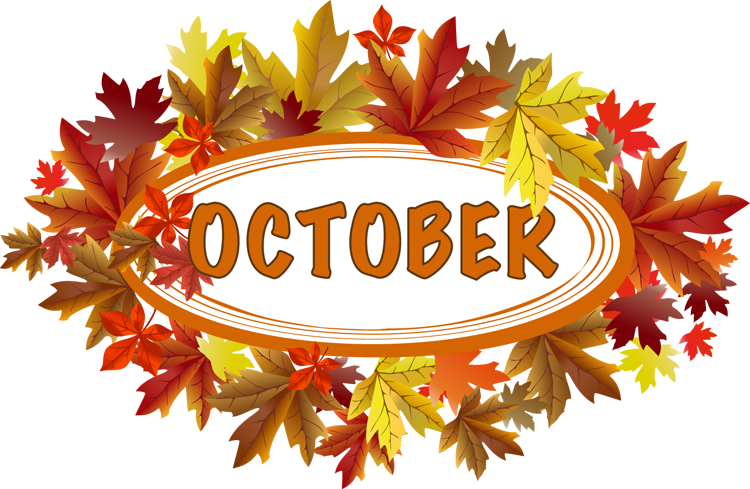 October Calendar Clipart.