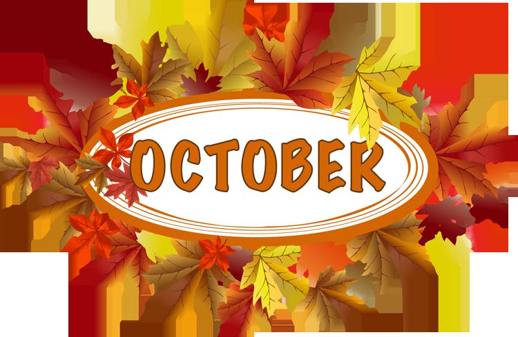 October Calendar Clipart.