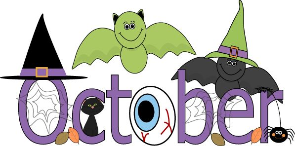The word october clipart.