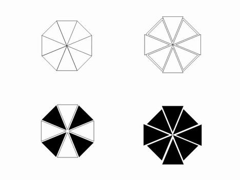 Octagon Clip Art Template.