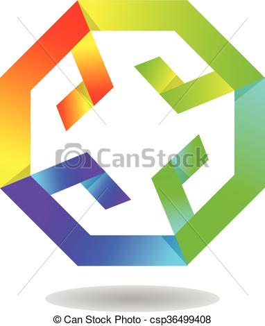 Vector Clipart of Dynamic Octagonal.