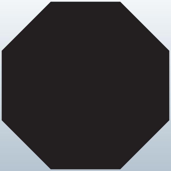 3d octagon multi color clipart.